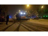 Kar yağışını gören kısıtlamayı bırakıp sokaklara indi