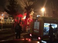 Parkta çıkan yangını itfaiye ekipleri söndürdü