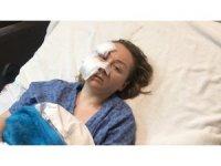 Falçatalı saldırıya uğrayan Ukraynalı kadın o anları anlattı
