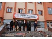 Milli eğitim müdürü Sarı, deprem güçlendirme çalışmalarını inceledi
