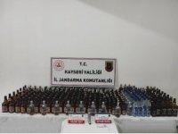 Jandarma mağarada saklanan 180 litre kaçak içki ele geçirdi