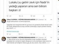 Samsunspor Başkanı Yıldırım özür diledi