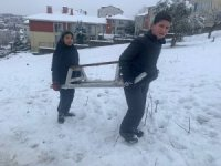 Kocaeli'de eğlenceli kar manzaraları