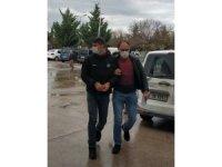 Otobüsünden inerken uyuşturucuyla yakalanan şahıs tutuklandı
