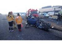 Kontrolden çıkan otomobil beton bariyere çarpıp savruldu: 1 ölü