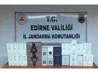 Edirne'de 5 bin 800 TL'lik kaçak parfüm ele geçirildi