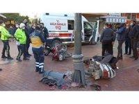 Motosikletler kafa kafaya çarpıştı: 1 yaralı