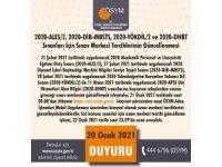 """ÖSYM Başkanı Aygün: """"2020-ALES/2, 2020-YÖKDİL/2, 2020-DİB-MBSTS ve 2020-DHBT sınavları için 21-22 Ocak 2021 tarihlerinde sınav merkezi tercihleri güncellenebilecektir."""""""