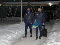 Fenerbahçe kafilesine Sivas'ta coşkulu karşılama