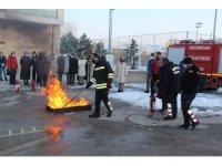 Gençlere yangın eğitimi verildi
