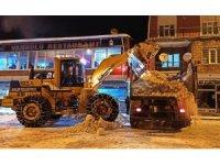 Ahlat'ta eksi 10 derecede karla mücadele çalışması