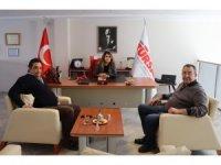 KUTO Başkanı Akdoğan, TÜRSAB Aydın temsilcisi Yurtcan ile görüştü