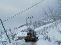 Cide'de karla mücadele çalışmaları aralıksız sürüyor