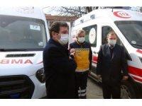 112 istasyonlarına yeni ambulans