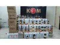 Antalya'da kaçak içki operasyonu: 2 gözaltı