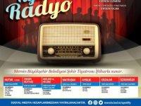 """Mersin Büyükşehir Belediyesinden pandemide nostalji: """"Radyo Tiyatrosu"""""""