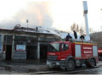 Kastamonu'da benzin istasyonunun yanında korkutan yangın