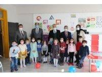 Yarıyıl tatiline giren anaokulu öğrencileri performans belgelerini aldı