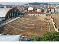 Gebze'nin yeni futbol sahası şekillenmeye başlandı