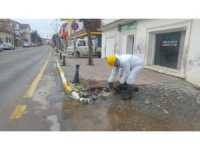 Ayvalık'ta su patlaklarına BASKİ ekiplerinden anında müdahale