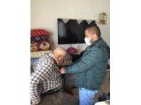 Tomarza da 65 yaş üstü vatandaşların evde aşılaması başladı