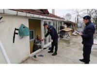 Jandarma ekipleri 56 saatte 471 ihtiyacı karşıladı