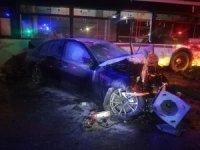 İzmir'de feci kaza: 2 yaralı