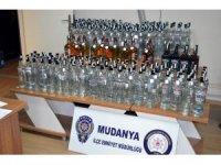 Bursa'da 300 litre sahte içki ele geçirildi