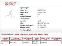Galatasaray'ın yeni transferi Halil Dervişoğlu'nun lisansı çıkarıldı.