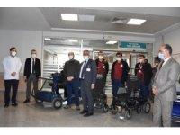 Van Eğitim ve Araştırma Hastanesinde akülü sedye, transfer aracı ve sandalye dönemi