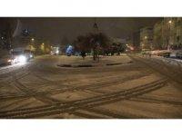 Beklenen kar Kırklareli'nde etkili oluyor