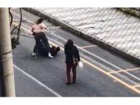 Genç kadın elinde bıçakla terör estirdi