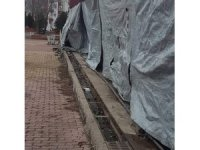 Sungurlu'da belediye'ye ait döküm ızgaralar çalındı