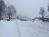Domaniç'te kar yağışı ulaşımı olumsuz etkiliyor