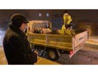 Çan Belediyesi'nin karla mücadele çalışmalarına Başkan Öz de katıldı