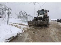 Mudanya'da yoğun kar mesaisi