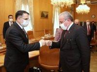 TBMM Başkanı Mustafa Şentop, Anayasa Mahkemesi Başkanı Salih Murat ve beraberindeki heyeti kabul etti