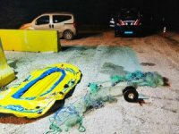 Botla kaçak balık avı yapan 4 kişi yakalandı
