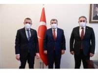 AK Parti Nevşehir milletvekilleri Açıkgöz ve Menekşe, Bakan Koca ile bir araya geldi