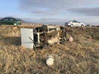 Konya'da işçileri taşıyan otomobil şarampole devrildi: 4 yaralı