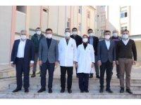 Atay Uslu, Kumluca Hastanesi ek bina inşaatını inceledi