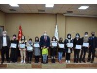 Dereceye giren öğrencilerin ödülleri takdim edildi