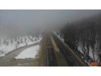 Bolu Dağı'nda yoğun sis havadan görüntülendi