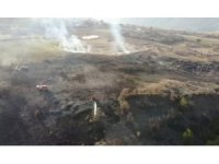 Karabük'te anız yangını: 30 dönüm alan zarar gördü