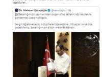 Bakan Ziya Selçuk'tan Bakan Kasapoğlu'na teşekkür