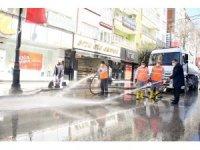 Gürkan, dezenfekte çalışmalarını denetledi