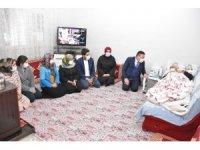 Başkan Beyoğlu'ndan kanser hastasına moral ziyareti