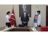 18 Mart'ta Çanakkale'de göndere çekilecek ay yıldızlı bayrak Kırıkkale'de