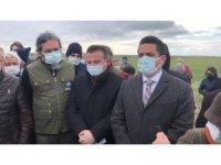 """Ergene'de """"tarım arazisine plastik sanayi istemiyoruz"""" tepkisi"""