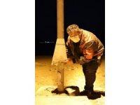 Marmaris'te aydınlatma direkleri bakıma alındı